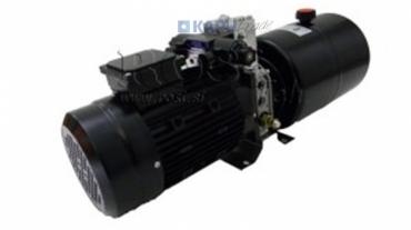 Mini hidraulika aggregát 380V AC (1,5 kW) 110 bar-5,8 cc -8,2 lit/min-tank 6 lit