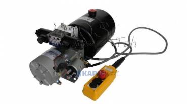 Mini hidraulika aggregát 12V DC-1,6kW=2,1cc-8 lit- kettesműködésű kuplung (fém)