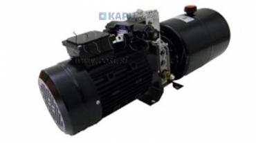 Mini hidraulika aggregát 230V AC (1,5 kW) 110 bar-5,8 cc-8,2 lit/min-tank 6 lit