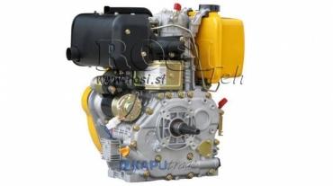 Dízel 418cc-7,83kW-10,65HP-3.600 U/min-E-TP25.4x105-elektromos indítás