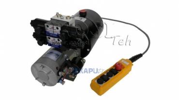 Mini hidraulika aggregát 24V DC-2,2kW=2,1cc-8 lit-2x kettesműködésű kuplung (fém)