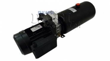Mini hidraulika aggregát 380V AC (2,2 kW) 120 bar-8,0 cc-11,2 lit/min-tank 12 lit