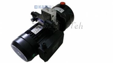 Mini hidraulika aggregát 380V AC (0,75 kW) 85 bar - 3,7 cc - 5,2 lit/min - tank 4 lit