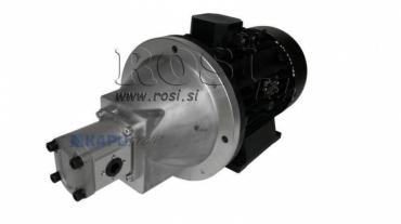 Hidraulika szivattyú kuplung GR.2 20 cm3+ villanymotor 3faz-7,5 KW (szállítási mennyiség 29 lit/min)