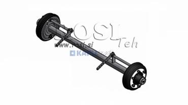 Utánfutótengely fékkel 5400 kg (1500mm)
