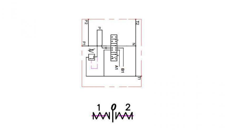 Kézi vezérlésű 1xP40 +1 irányba reteszelhető C1