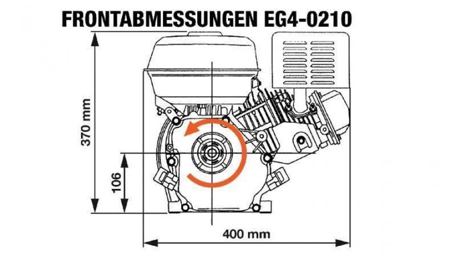 Benzinmotor EG4-200cc-5,10 kW-3.600 U/min-E-KW20x53-elektromos indítás