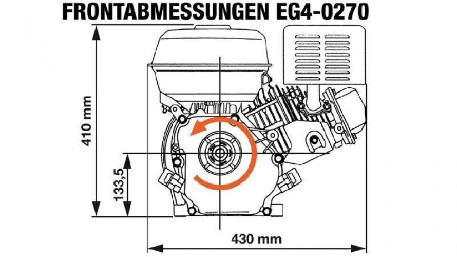 Benzin EG4-270cc-6,56kW-8,92HP-3.600 U/min-E-KW25x88.2-elektromos indítás