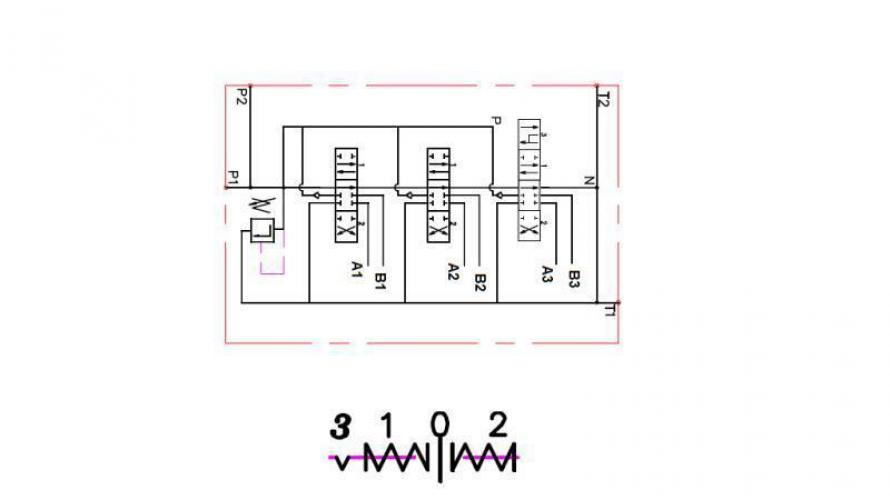 Kézi vezérlésű 3 állású 3xP40