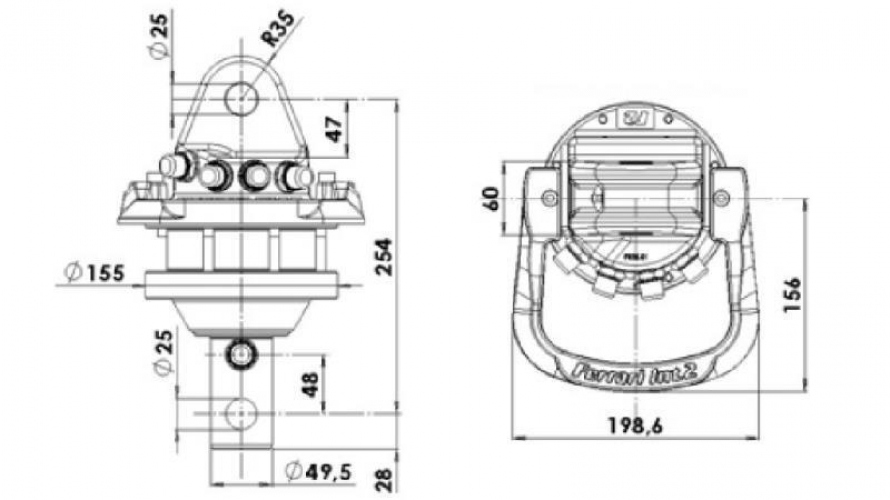 Hidraulika forgató motorok 3500/1750 Kg
