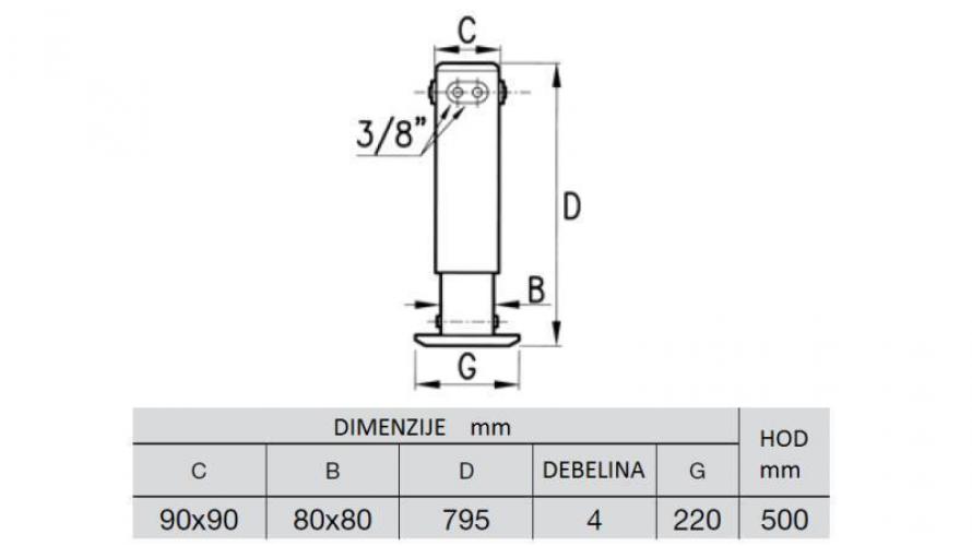 Hidraulikus alátámasztók 2 fokozatú