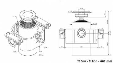 Kompakt henger 861mmx125