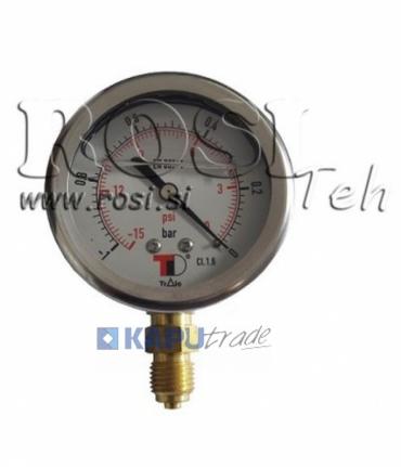 Vákuummérő-egyenes atm. 63mm